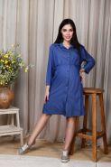 Платье-сафари для беременных и кормящих, джинс