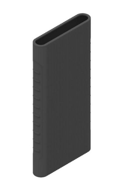 Защитный кейс для  Xiaomi Power Bank 2i/3  10000 mAh ( Силикон / Черный)