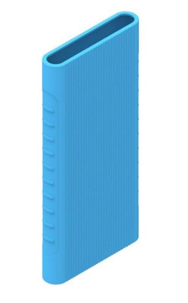 Защитный кейс для  Xiaomi Power Bank 5000 mAh ( Силикон / Голубой)
