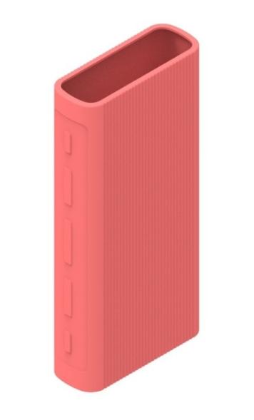 Защитный кейс для  Xiaomi Power Bank 3/3 Pro на 20000 mAh ( Силикон / Розовый)