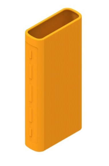 Защитный кейс для  Xiaomi Power Bank 3/3 Pro на 20000 mAh ( Силикон / Оранжевый)