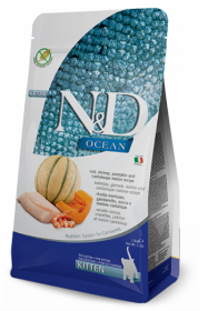 N&D Ocean Codfish,Shrimp,Pumpkin &Cantaloupe Melon Kitten (треска с тыквой, креветкой и дыней беззерновой корм для котят)
