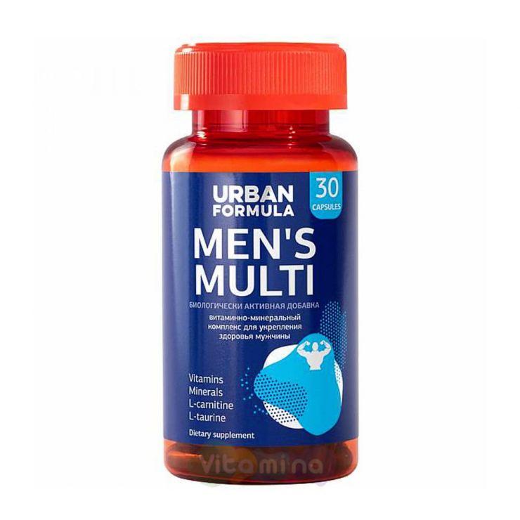 Урбан Формула Витаминно-минеральный комплекс для мужчин от А до Zn Men's Multi, 30 капс.