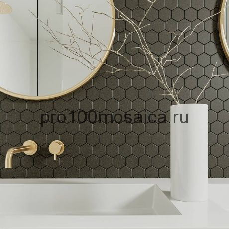 Grafit Gamma. Мозаика СОТЫ 51*59 мм,  размер, мм: 325*281*6 (ORRO Mosaic)