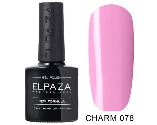ELPAZA ГЕЛЬ-ЛАК  Charm 078  Розовая вишня (Светло-лиловый) 10 мл