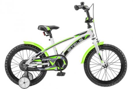 """Велосипед 16"""" STELS Arrow 9.5"""" Белый/зелёный"""