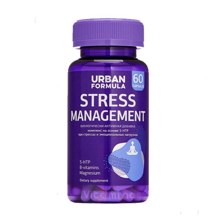 Урбан Формула Антистрессовый комплекс с 5-HTP, Stress Management, 60 капс.
