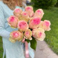 """11 пионовидных розовых роз """"Esperance"""""""
