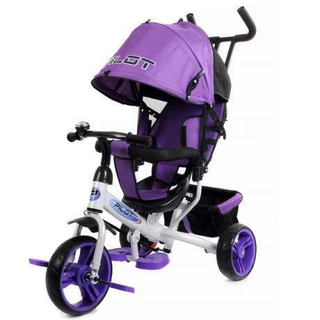 """Велосипед трехколесный PILOT 10""""-8"""" фиолетовый"""