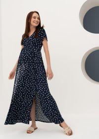 """Платье """"Лианель"""" для беременных и кормящих; синий/горох"""