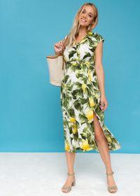 """Платье """"Уэнди"""" для беременных и кормящих; лимоны"""