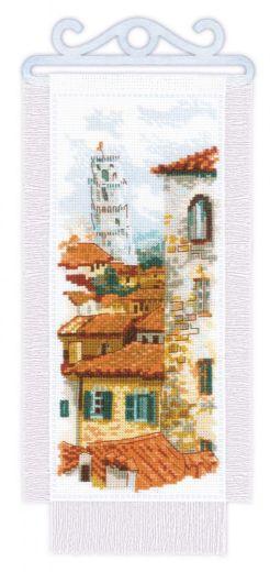 Набор для вышивания крестом Крыши Пизы № 1953 фирма Риолис