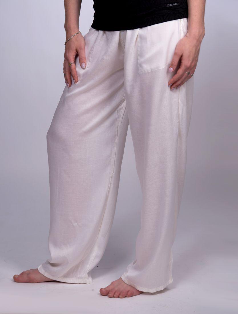 Прямые штаны из вискозы Кирпичного цвета (Москва)