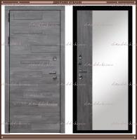 Входная дверь Грея Зеркало Дуб Шале серебро / Дуб Шале серебро 90 мм Россия :