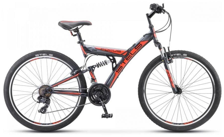 """Велосипед Stels Focus 26' V 18 sp V030""""0 18"""" Оранжевый/чёрный (LU083838 LU086305)"""