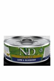 N&D CAT PRIME LAMB&BLUEBERRY (Ягнёнок с Черникой для кошек) 80г.