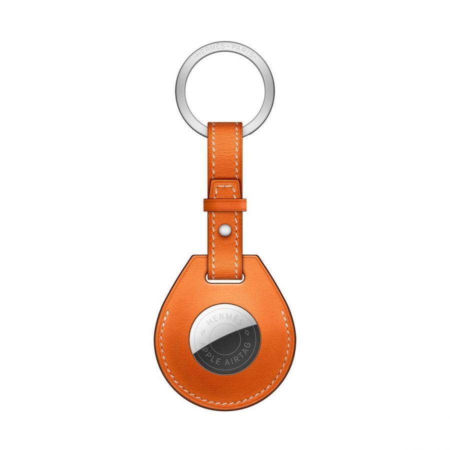 Брелок AirTag Hermès с кольцом для ключей, цвет Orange