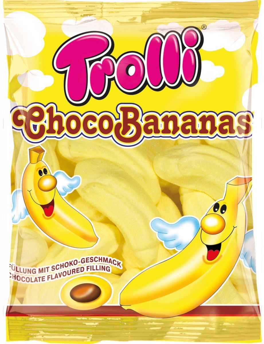 Маршмеллоус Trolli (бананы с какао) 150г