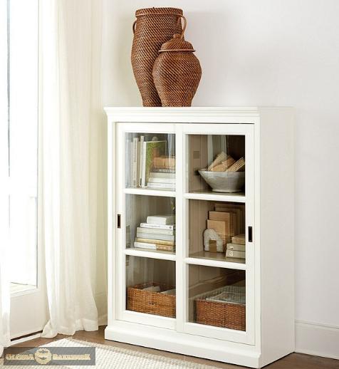 Шкаф для библиотеки Хуго-Dream H013D с декоративным плинтусом