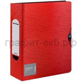 Файл А4 8см Berlingo Steel&Style на резинке красная PPf_98003