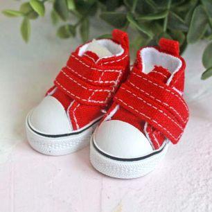 Обувь для кукол ЛЮКС - кеды 5 см (красные)