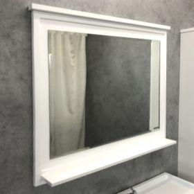 Зеркало Comforty Феррара-100 белый глянец