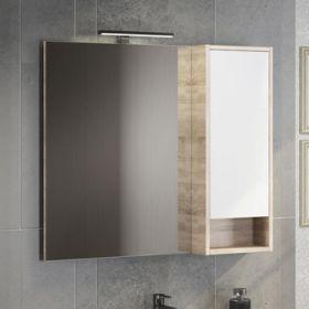 Зеркало-шкаф Comforty Гамбург-90 дуб сонома