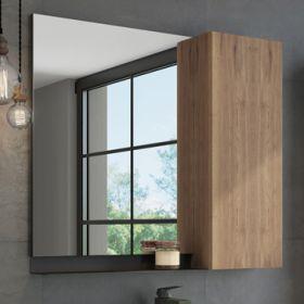 Зеркало-шкаф Comforty Кёльн-90 дуб темный (Зеркало Comforty Короб №1+Шкаф к зеркалу Короб №2)