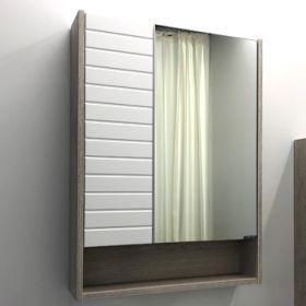 Зеркало-шкаф Comforty Клеон-60 белый/дуб дымчатый
