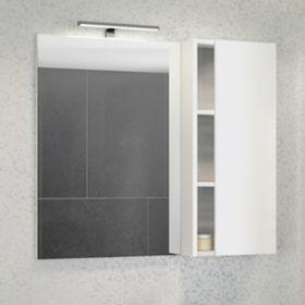 Зеркало-шкаф Comforty Милан-90 белый глянец