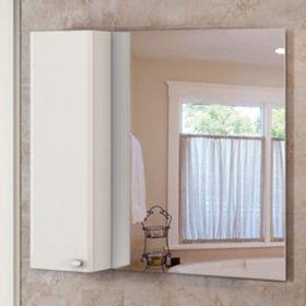 Зеркало-шкаф Comforty Неаполь-100 белый глянец