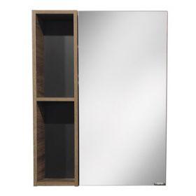 Зеркало-шкаф Comforty Штутгарт-60 дуб тёмно-коричневый