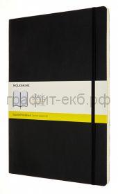 Книжка зап.Moleskine А4 Classic Soft клетка черная QP643