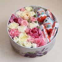 цветочная коробка с киндером № 1