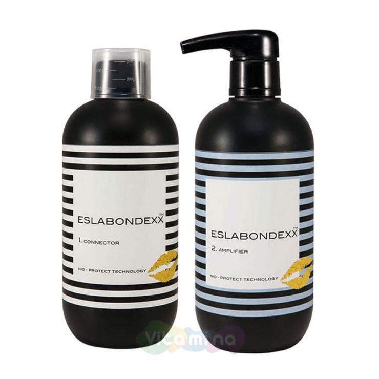 ESLABONDEXX Набор для волос Белковый комплекс CONNECTOR 500 мл + Укрепляющий крем AMPLIFIER 500 мл