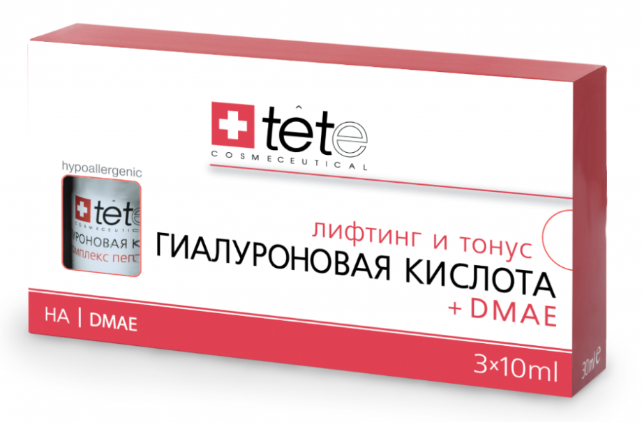 Гиалуроновая кислота и ДМАЭ Tete cosmeceutical (Тете косметик) 3*10 мл