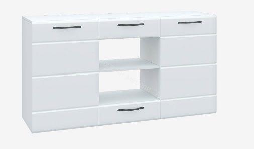 Комод Асти АКМ 1500.1 (Белый глянец)