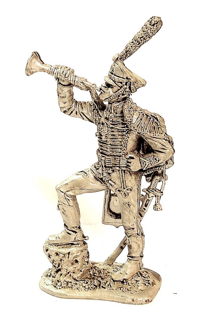 Фигурка Трубач гусарского полка. Россия 1812 г. олово
