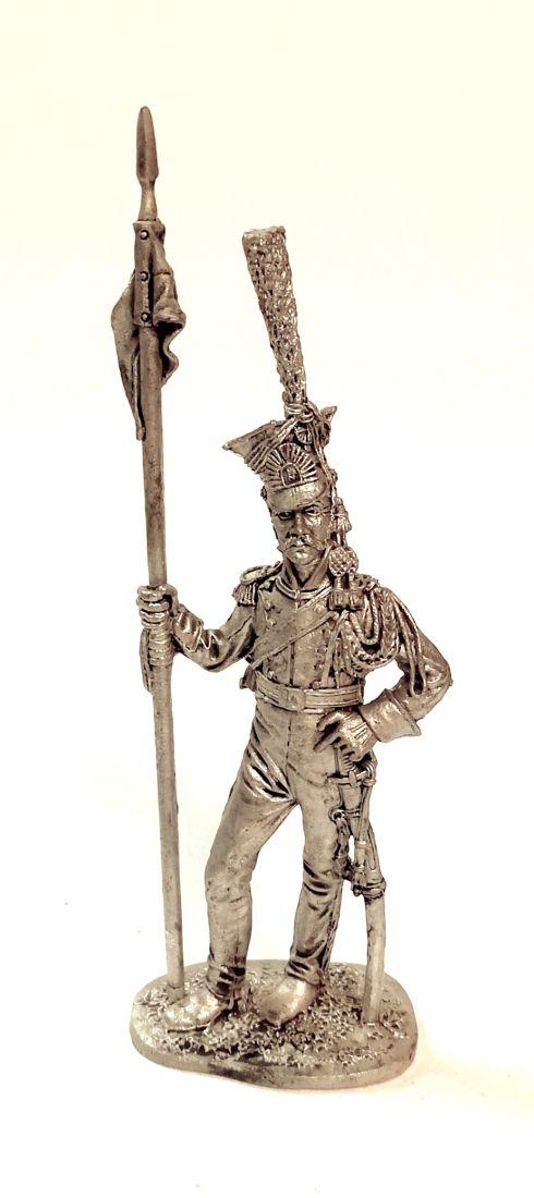 Фигурка Рядовой гвардейских улан. Франция 1812 г. олово