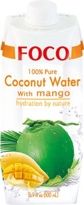 Кокосовая вода с манго Foco, 500 мл