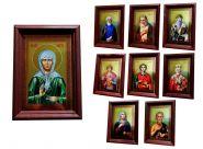"""Набор икон """"ВЕЛИКИЕ СВЯТЫЕ ХРИСТИАНСКОЙ ЦЕРКВИ"""", 9шт, 10х15см."""