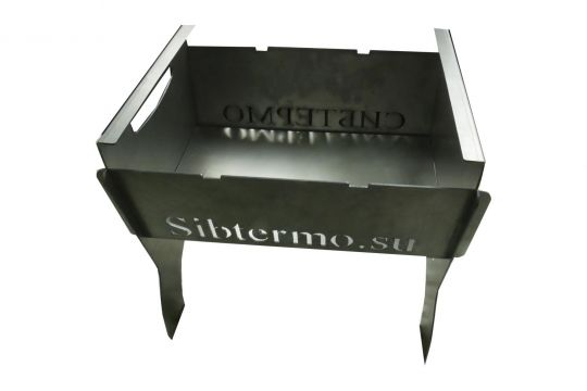 Мангал Сибтермо с упором коптильни с чехлом 350*320*30 сталь 2мм