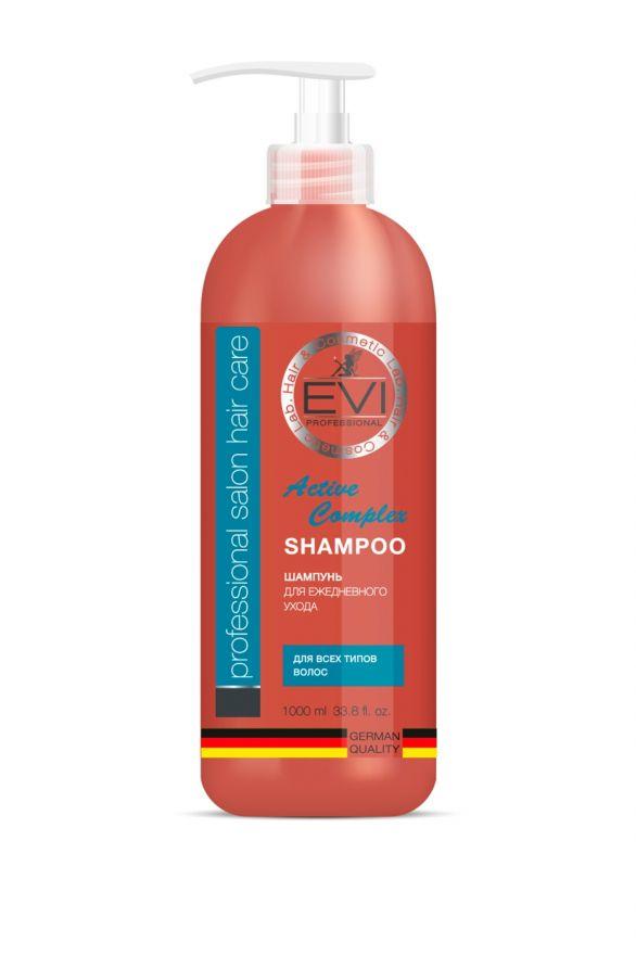 Шампунь «Активный комплекс» для всех типов волос, 1000 мл. «EVI»