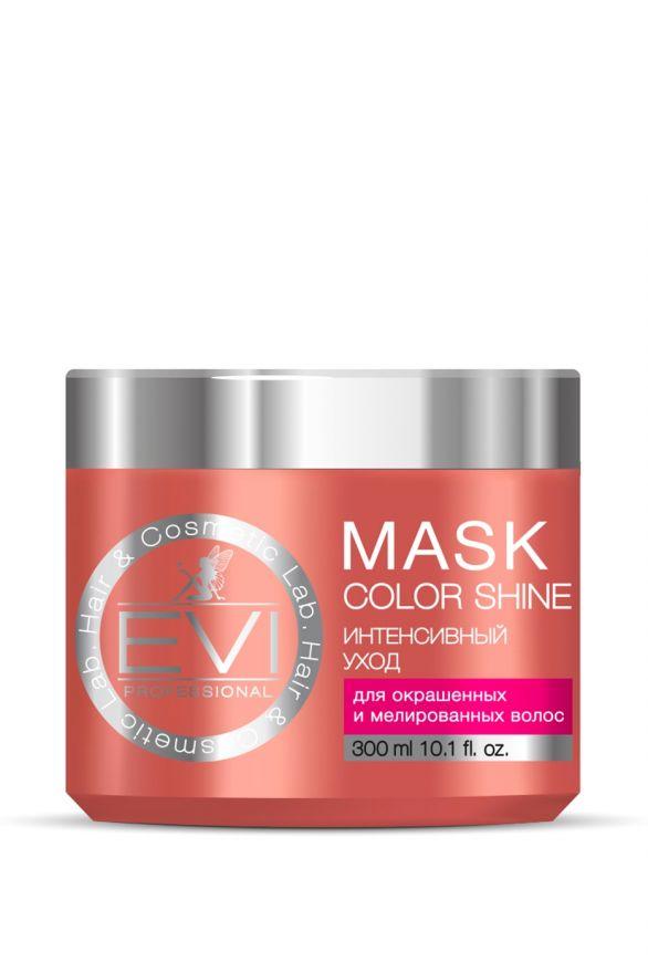 Маска «Интенсивный уход» для окрашенных и  меллированных волос, 300 мл. «EVI»