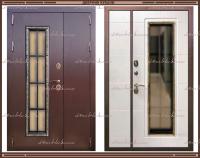 Входная дверь Агора 2200 х 1300 Лиственница светлая со стекло-пакетом :