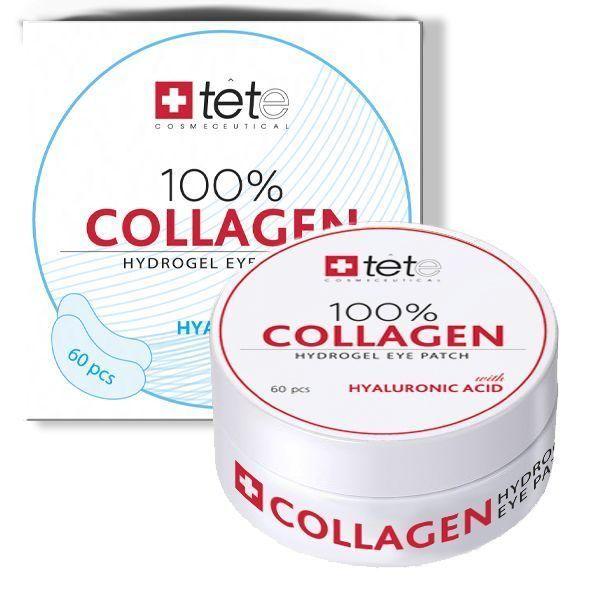 Гидроколлагеновые патчи для век (100% Collagen EYE PATCH) Tete cosmeceutical (Тете косметик) 60 шт