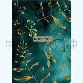 Книжка зап.Полином А5 GOLD FLORAL PATTERN 96л.кл. на резинке с петлей для ручки 3132