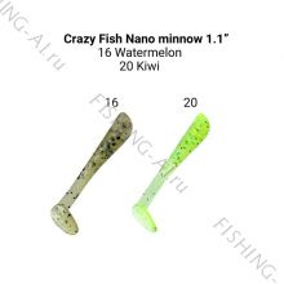 Crazy Fish Nano minnow 1.1 (цвет 16/20)