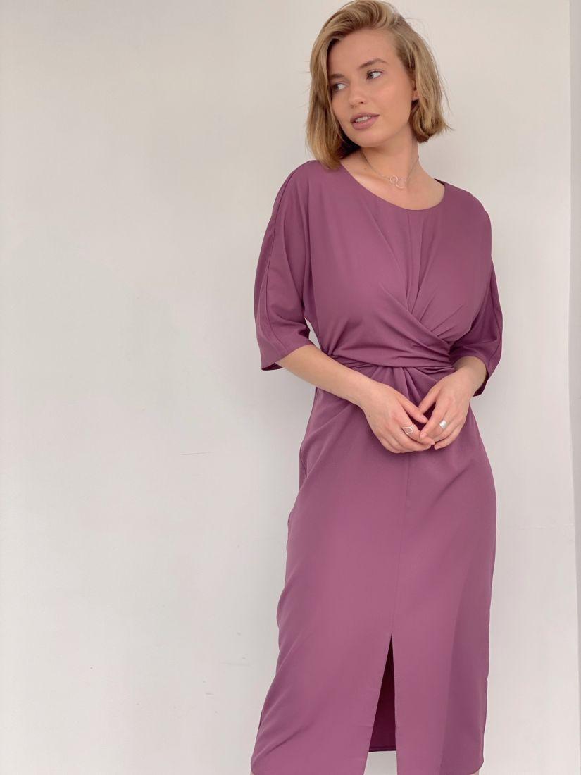4279 Платье с перекрутами в цвете lilac-grey