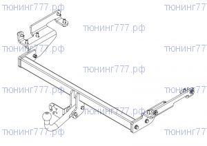 Фаркоп (тсу) AvtoS, крюк на болтах, тяга 2.5т